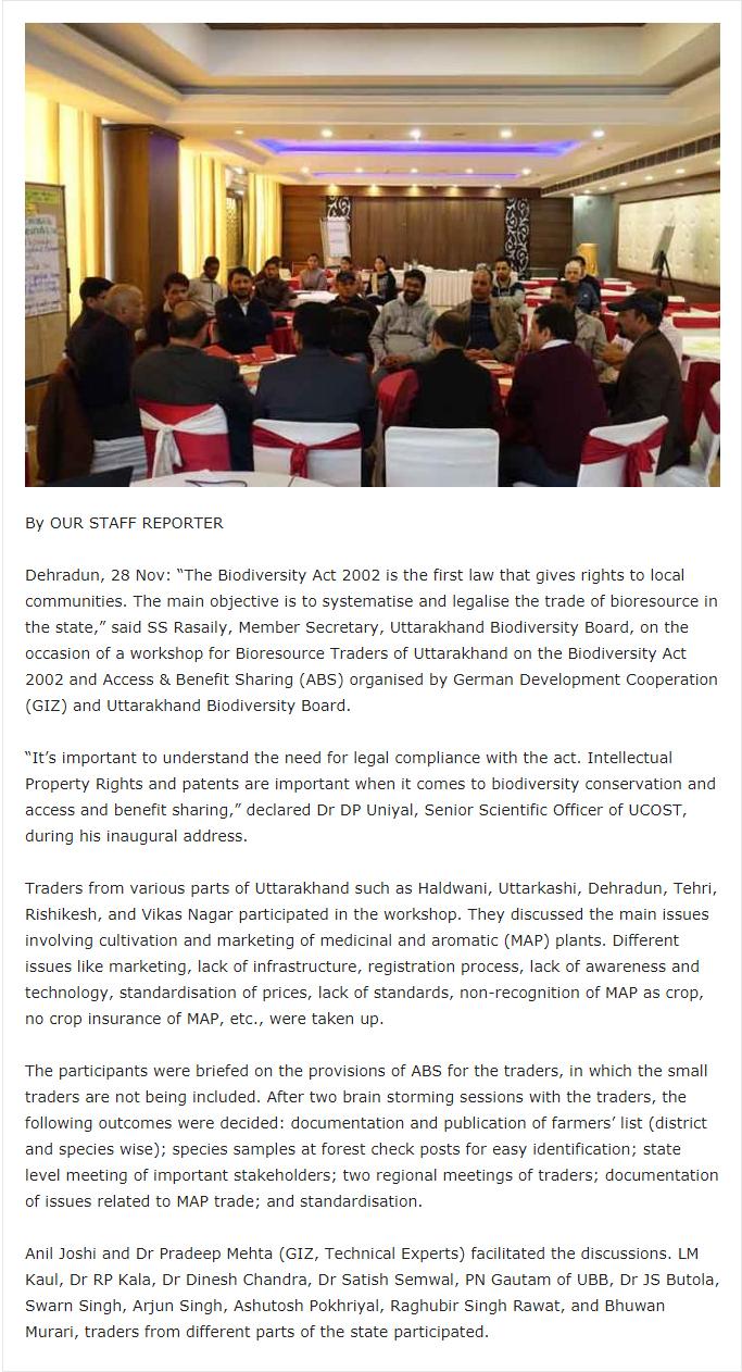 Indo-German Biodiversity Programme, Biodiversity conservation